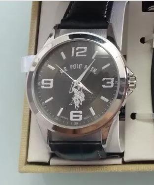 Relógio Us Polo Us 2057 Com Chaveiro E Clip Para Cédulas
