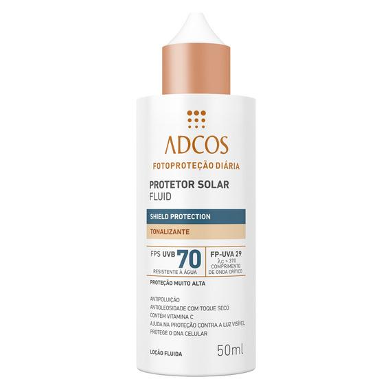 Protetor Solar Shield Protection Fps 70 Fluid Tonalizante Adcos Universal