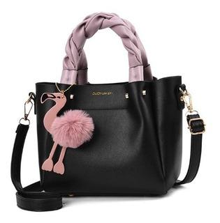 Bolsa Feminina Atual C/ Chaveiro Flamingo Importada