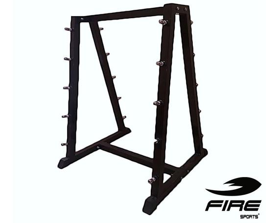 Rack Metalico Soporte Para 10 Barras Fire Sports