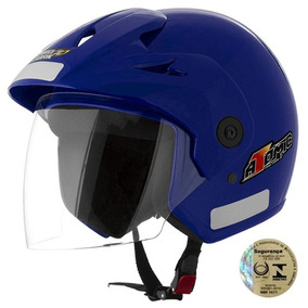 Capacete Moto Aberto Pro Tork Azul Qualidade - Oferta