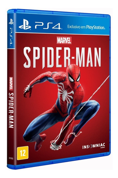 Spider-man - Ps4 ( Novo, Lacrado, Mídia Física) Spiderman
