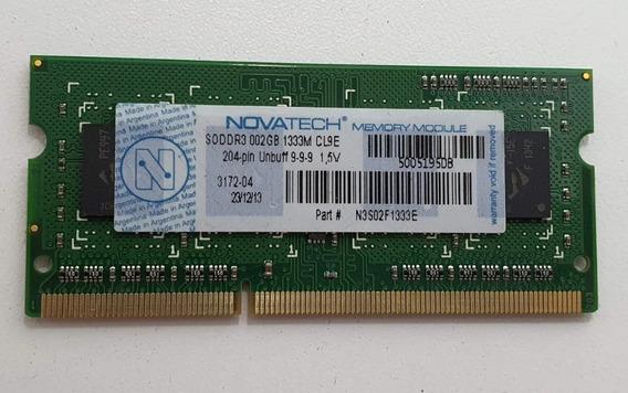 Memoria Ram 2gb Novatech Sodimm Ddr3-1333