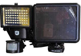 Reflector Solar 60 Leds Sensor Movimiento Luz Fria Seguridad
