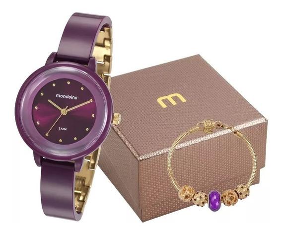 Kit Relógio Mondaine Feminino 76709lpmvdy2 C/ Pulseira