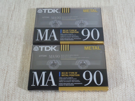 2 Fitas K7 Cassete Tdk Ma90 - Metal - 1990 - Lacradas