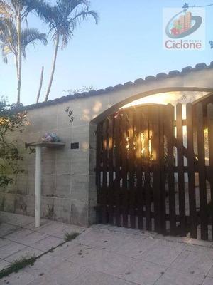 Edícula Com 2 Dormitórios Para Alugar, 55 M² Por R$ 600/mês - Corumbá - Itanhaém/sp - Ed0009