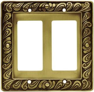 Franklin Latã³n 64038 Paisley Decorador Doble Placa De La