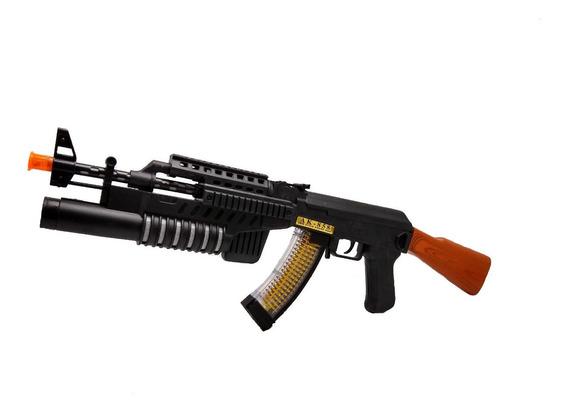 Rifle De Asalto Ak-858. Con Cargador Vibracion Y Luz