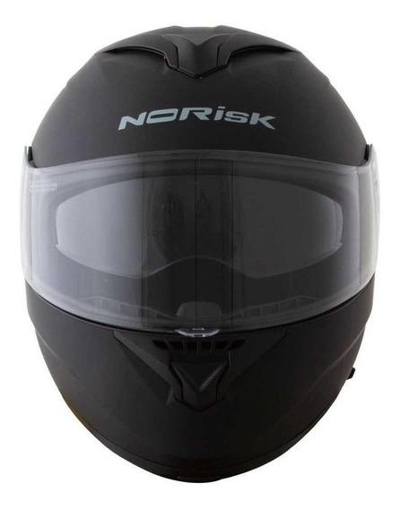 Capacete para moto escamoteável Norisk Force Monocolor matt black tamanho 58