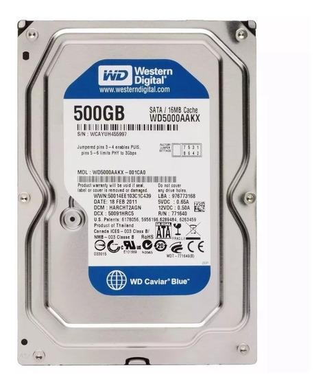 Hd Western Digital Blue 500gb Sata 3gbs Pc 7200rpm