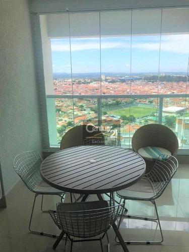 Apartamento Mobiliado À Venda No Excelente Residencial Le Jardin Em Indaiatuba/sp R$ 960.000,00 - Ap0304
