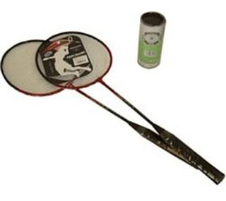 Jogo Kit De Badminton Com 2 Raquetes Em Aço - Impar Sports