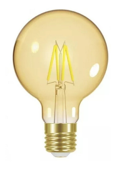 Lâmpada Led Filamento Vintage G80 Dimerizável 4w Taschibra