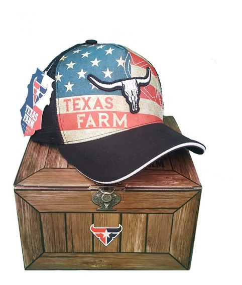 Caixa Exclusiva Texas Farm Com Boné Original Mega Oferta