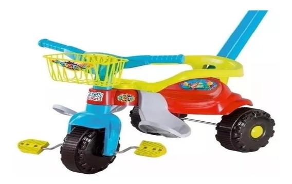 Motoca Triciclo Festa Bebê Cestinha Brinquedo Top Lindo
