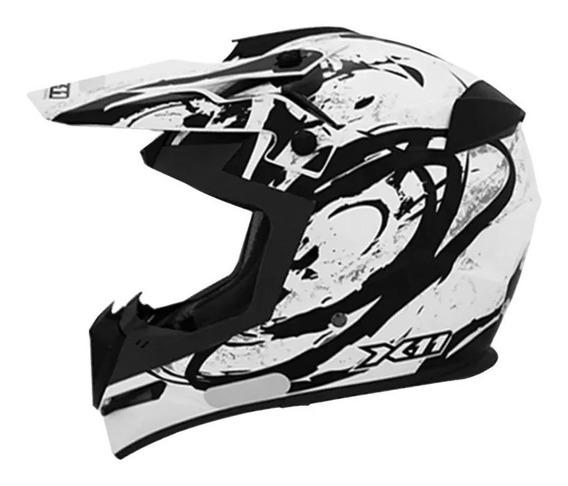 Capacete X11 Atomic Preto Motocross Trilha Promoção!!