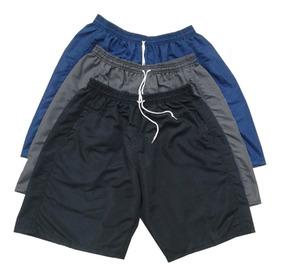 Shorts Masculino Tactel Academia Elástico P M G Gg Xg
