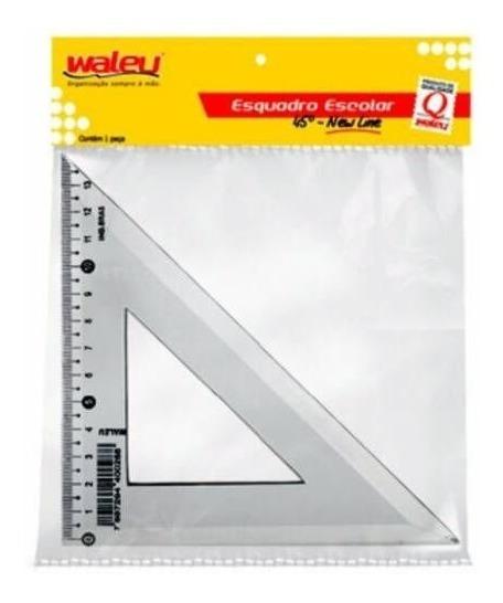 Esquadro Waleu 21cm 45 Graus Individual 16135