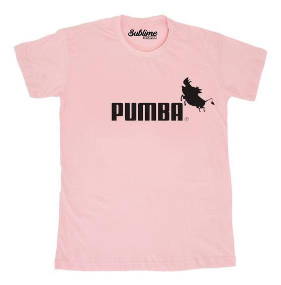 Camiseta Blusa T-shirt Pumba Rei Leão Puma Moda Tumblr