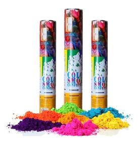 Cañon Lanza Polvos Holi Party Popper 30 Cm Polvo Colores Fh3