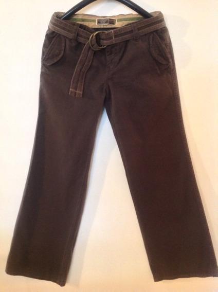 Pantalón Con Cinturón Old Navy Red Wide Leg (talla 10)