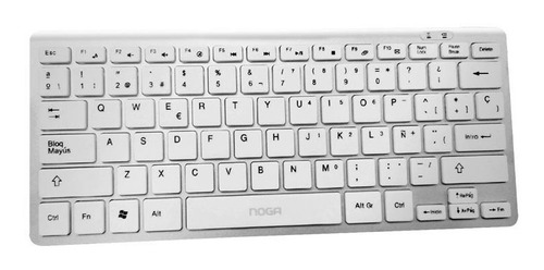 Teclado Noga Inalambrico Ultra Slim Nano Soft Touch Pc Mac