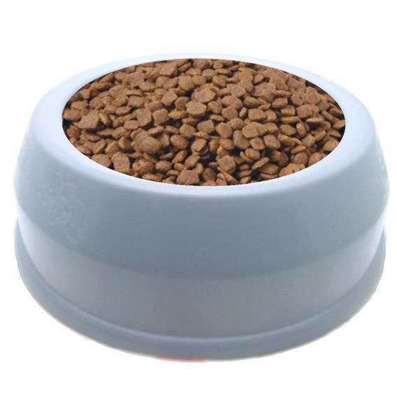 3pc Comedouro Plástico Bokão Para Cães E Gatos 20x7cm
