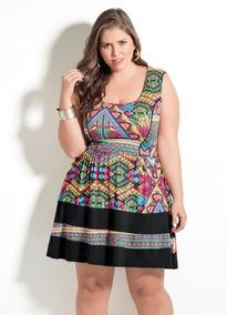 53582b3b3 Vestido Plus Size Pronta Entrega - Vestidos Casuais Femininas no ...