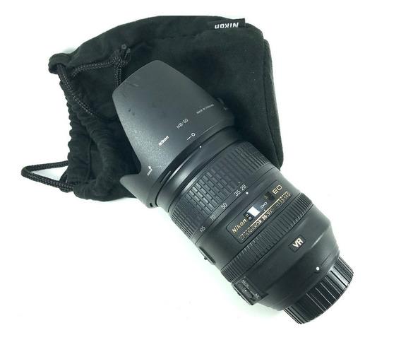 Lente Nikon Af-s 28-300mm Vr Completa Bem Conservada Confira