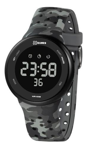 Relógio X-games Masculino Digital Xmppd584 Camuflado Preto
