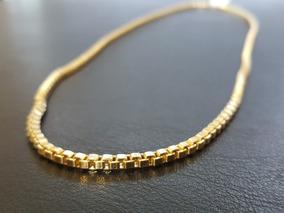 Corrente Veneziana Masculina Grossa Ouro 18k Cordão De 60 Cm