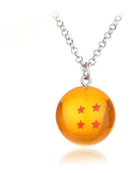 Colar Esfera Do Dragão 4 Estrelas Dragon Ball Goku