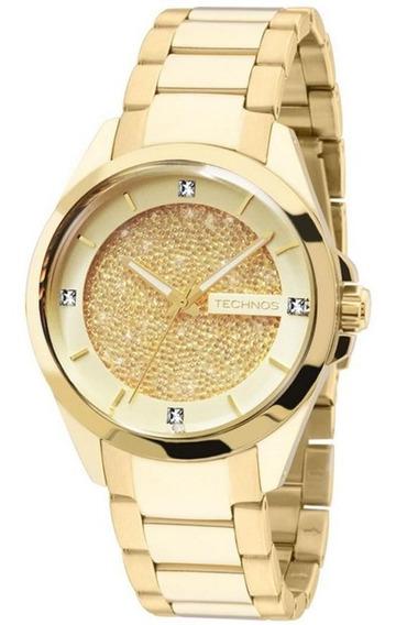 Relógio Technos Crystal Feminino Swarovski Strass 203aaa/4x