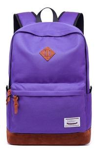 Mochila Para Notebook Touwan Dgbk-b16 Con Usb Violeta/marron