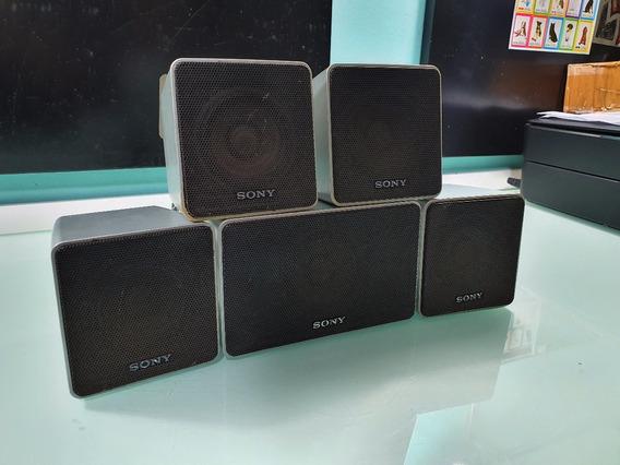 Kit 5 Caixas De Som Sony 2 Frontais 2 Surround 1 Central