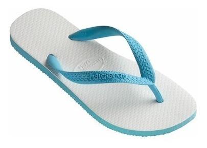 Chinelo Havaianas Top 45/46 Azul Branco Tradicional Original
