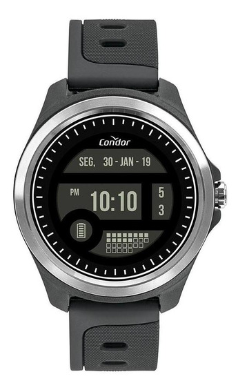 Relógio Masculino Condor Digital + Prata - Original