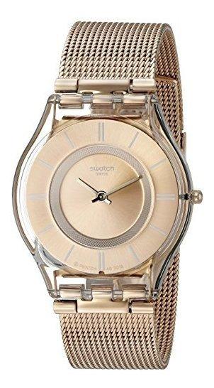 Reloj Swatch Para Mujer Color Sfp115m Color Rosa Dorado Con