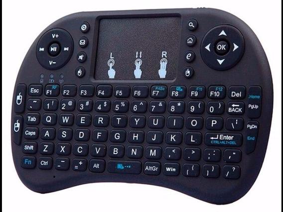 Mini Teclado Sem Fio Com Touchpad Para Smart Tv E Pc