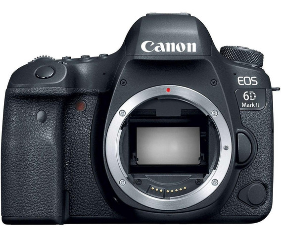 Canon EOS 6D Mark II DSLR color negro