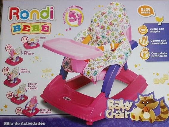 Mecedora Y Sillita Rondi Activity Chair 3 Posiciones Bandeja