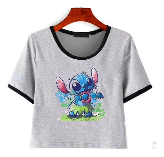 Remera Corta Stitch Disney Varios Diseños Ideal Regalo