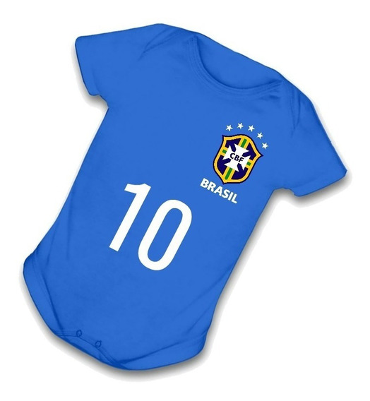 Body Da Copa 2018 Brasil Seleção Brasileira Azul