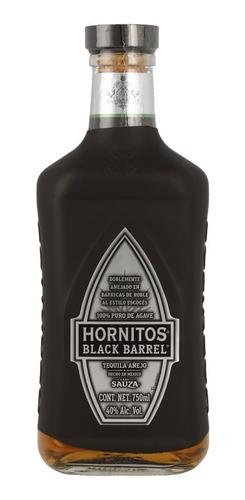 Imagen 1 de 1 de Botella Tequila Sauza Hornitos Black Barrel 750 Ml