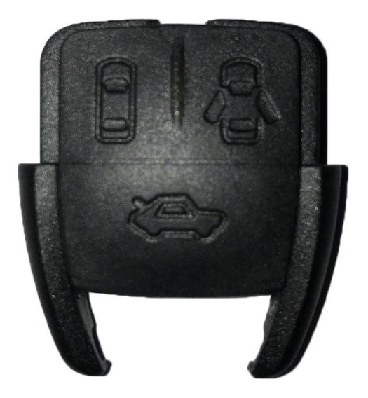 Kit 10x Capa Chave Frontal Gm Corsa Astra Vectra Zafira 3 Botoes Preta Porta Mala Atacado Chaveiro Auto Elétrica