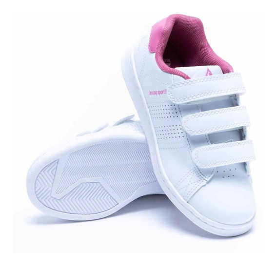 Zapatilla Niños Sculi Strap Velcro Blanca Le Coq Sportif