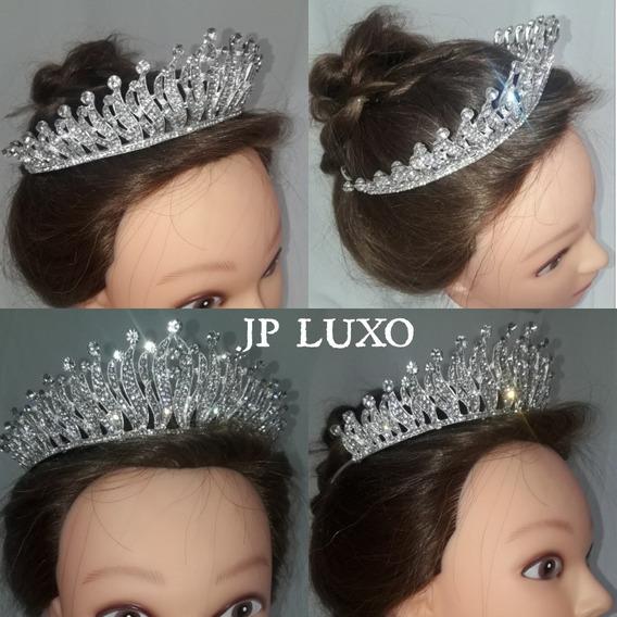Coroa Noiva Prata 15 Anos Debutante Mister Miss Rainha Pente