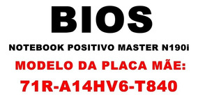 Bios Notebook Positivo Master N190i