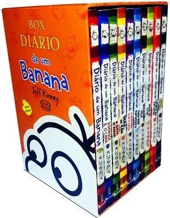 Box Diário De Um Banana - 10 Volumes Lacrado Com Poster